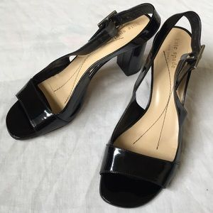 Kate Spade Italy made slingback black heels 8